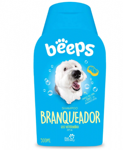 Shampoo Pet Society Beeps Branqueador - 500mL